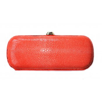 "Extra-Extra.London Stingray Clutch  ""Orange Mist"""