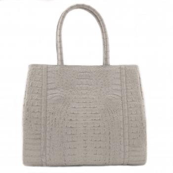 "Extra-Extra.London Crocodile handbag  "" Misty white"""