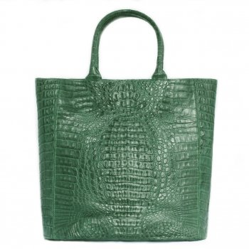 Extra-Extra.London Caiman bag ''Emerald""