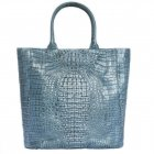 "Caiman bag  "" Blue Horizon"""